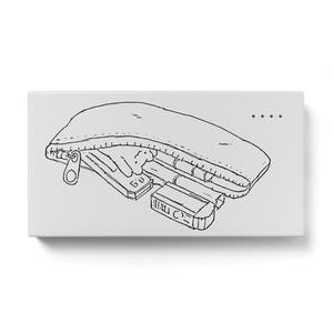 ペンケースくまうさモバイルバッテリー