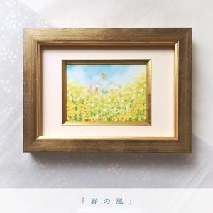額装ATC「春の風」