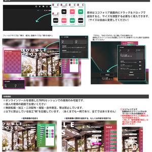 【オンセ素材】ココフォリア用DX3マップマスク