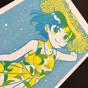 ポストカード:レモンワンピース
