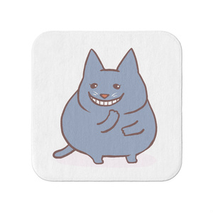 豊満な猫タオルハンカチ