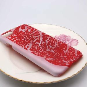 霜降り肉のスマホケース