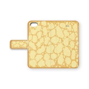 クレープ生地風の手帳型iPhoneケース