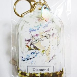 宝石アクリルキーホルダー ダイヤモンド