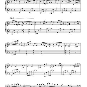""""""" Flowers """" ピアノスコア"""