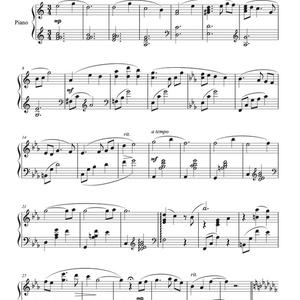「キミ ヲ オモフ」 ピアノスコア