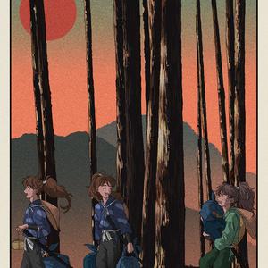 五年生のポストカード4種