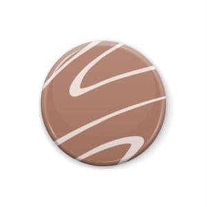 チョコ缶バッジ4種類25mm