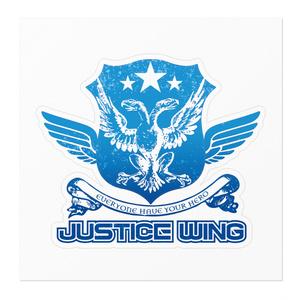 ジャスティス・ウィングお土産ステッカー