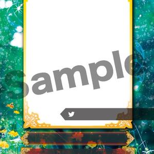 【LCG】02カードテンプレートデータ「LCG02_花(表)」