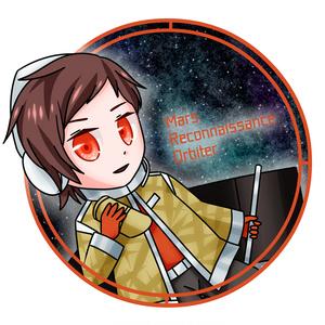 火星探査機「マーズ・リコネサンス・オービター」擬人化アクリルキーホルダー