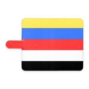 五色Androidケース(手帳型)