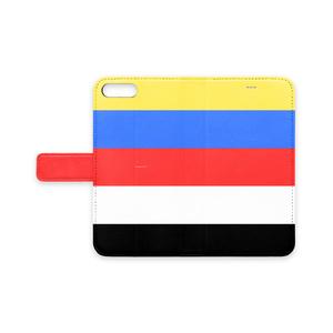 五色iPhoneケース(手帳型)