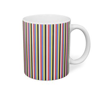 五色マグカップ(ストライプ細)