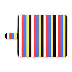 五色Androidケース(手帳型)(ストライプ)