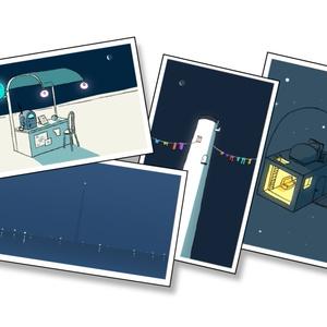 「ある宇宙の風景」カード4枚セット