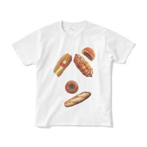 パンのパン文字Tシャツ ホワイト