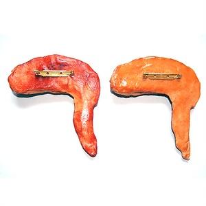 1/1リアルサイズのこんがり手羽先食品サンプルのブローチ