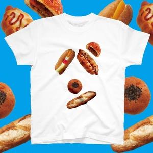 パンのパン文字Tシャツ 新色ホワイトver