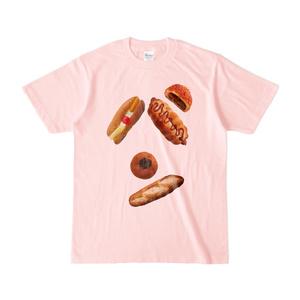 パンのパン文字Tシャツ ライトピンク