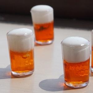 極小ミニチュアサンプルのビールジョッキのリングキーホルダー