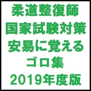 柔道整復師国家試験対策 安易に覚えるゴロ集 2019年度版