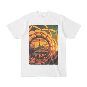逢魔猫+七宝煌円環紋/切子 Tシャツ