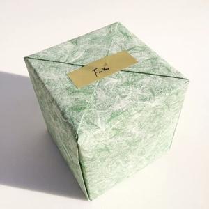 ギフト用一個入り木箱(猫切子or猫硝子)