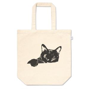 黒猫『雪』トートバッグM