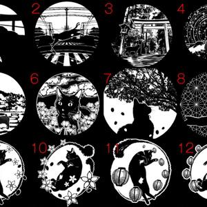 2面セミオーダー+菊繋ぎ紋/ノスタルジック角ランプ【BOOTH限定送料無料】