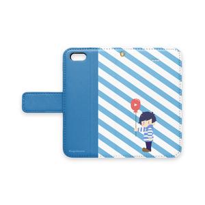 影。/かげまる iPhone手帳型スマホケース(ふうせんver)
