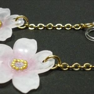チェーン 桜イヤリング