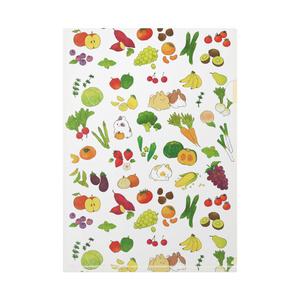 うさぎと野菜と果物と。クリアファイル