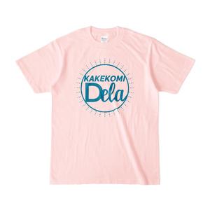 KAKEKOMIDELAライトピンクTシャツ
