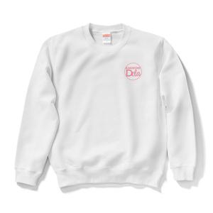KAKEKOMIDELA(White&pink)ワンポイントロゴスウェット