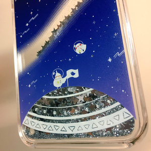 【受注生産】宇宙柄×鳥 iPhoneケース