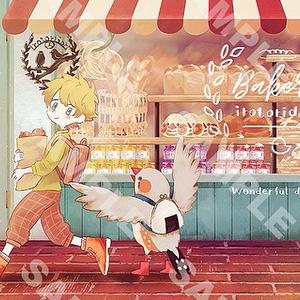 キンカと少年のお買い物ポストカード