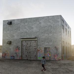 abandoned small warehouse