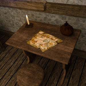 Small room of medieval inn