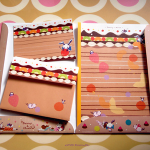 『フルーツケーキ』のレターセット【B5,A6便箋 封筒 ホルダー】