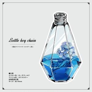 小瓶のアクリルキーホルダー(青 / 緑)