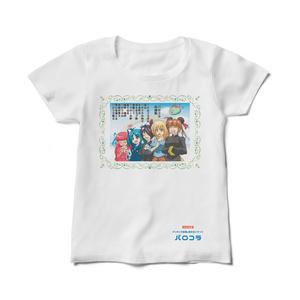 【パロコラ公式】白Tシャツ(レディース)【リューコ様 ver.】