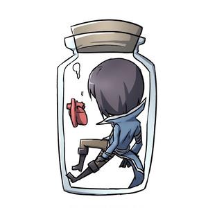 瓶詰めキーホルダー