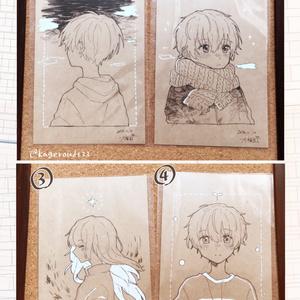 茶色ポストカード原画