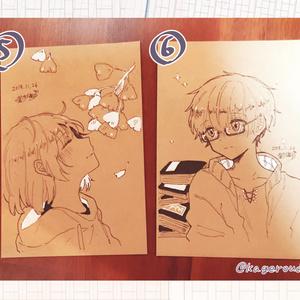 茶色ポストカード原画3