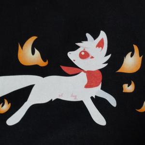 Tシャツ 稲荷狐と狐火