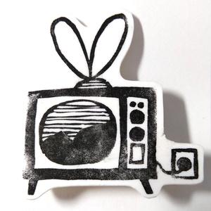 ブローチ「テレビ」