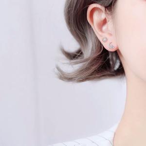 【星月】可愛い ピアス 耳飾り イヤリング 友達 彼女 プレゼント