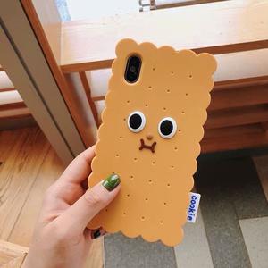 【クッキー】可愛い クッキー顔 デザイン iPhoneケース ソフトカバー