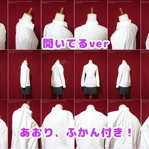 【作画資料写真集】シャツ 襟の資料(開いてるver&閉めてるver)